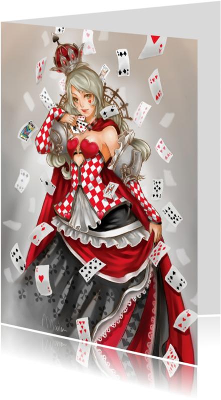 Verjaardagskaarten - Queen of Cards