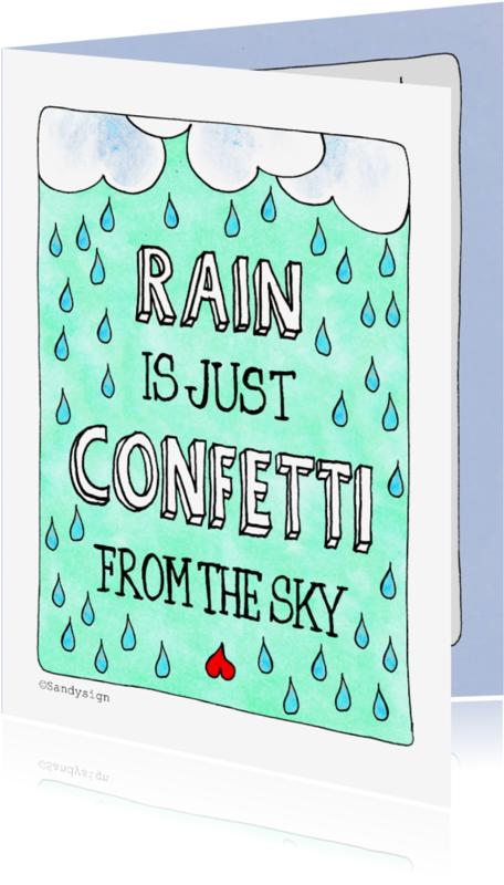 Coachingskaarten - Rain is just confetti - SD
