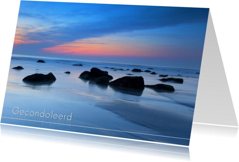 Condoleancekaarten - Rotsen in de Noordzee