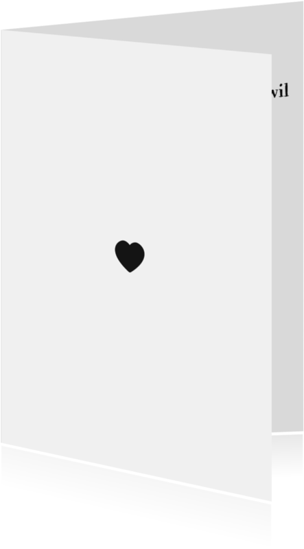 Condoleancekaarten - Rouwend hart