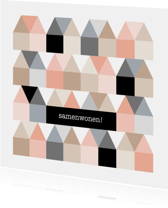 Samenwonen kaarten - Samenwonen kaart Huisjes - HB