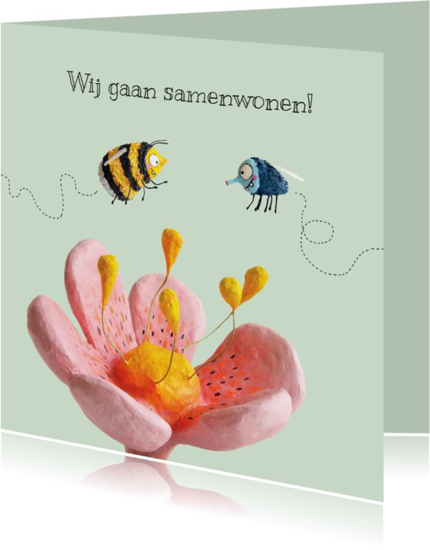 Samenwonen kaarten - Samenwonen kaart vlieg en bij