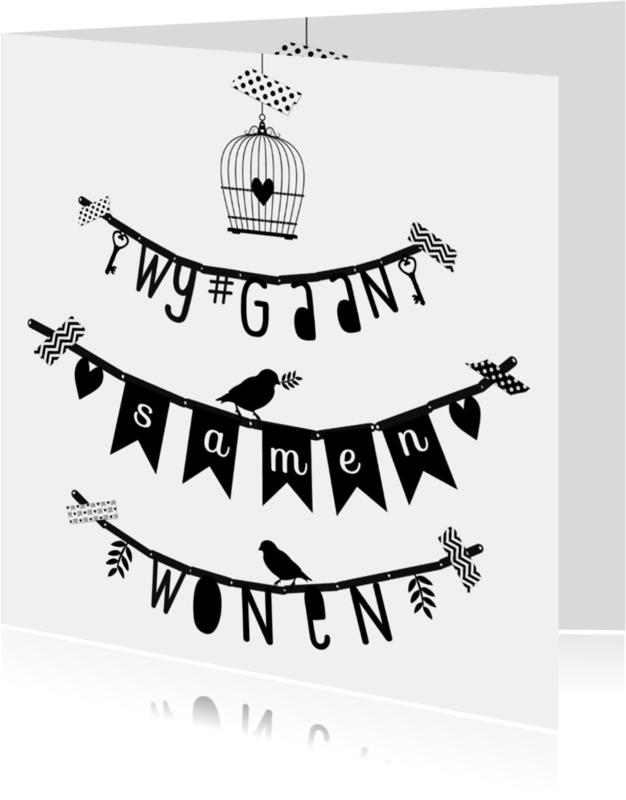Samenwonen kaarten - Samenwonen letterslinger wgs - B