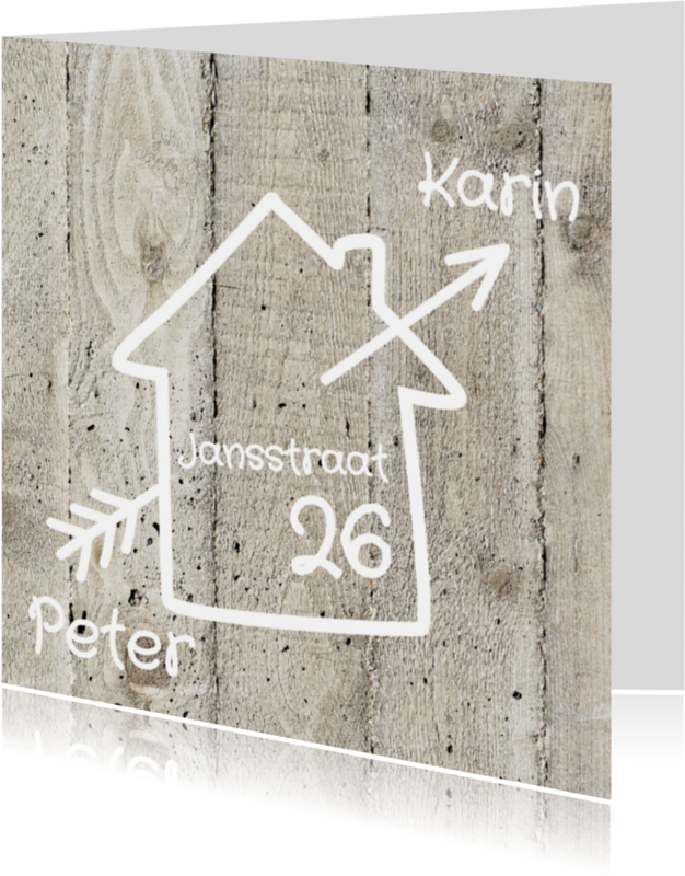 Samenwonen kaarten - Samenwonen verhuiskaart