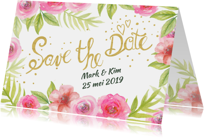 Trouwkaarten - Save The Date aquarel