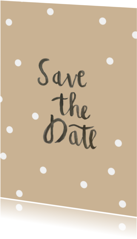 Trouwkaarten - Save the Date brush