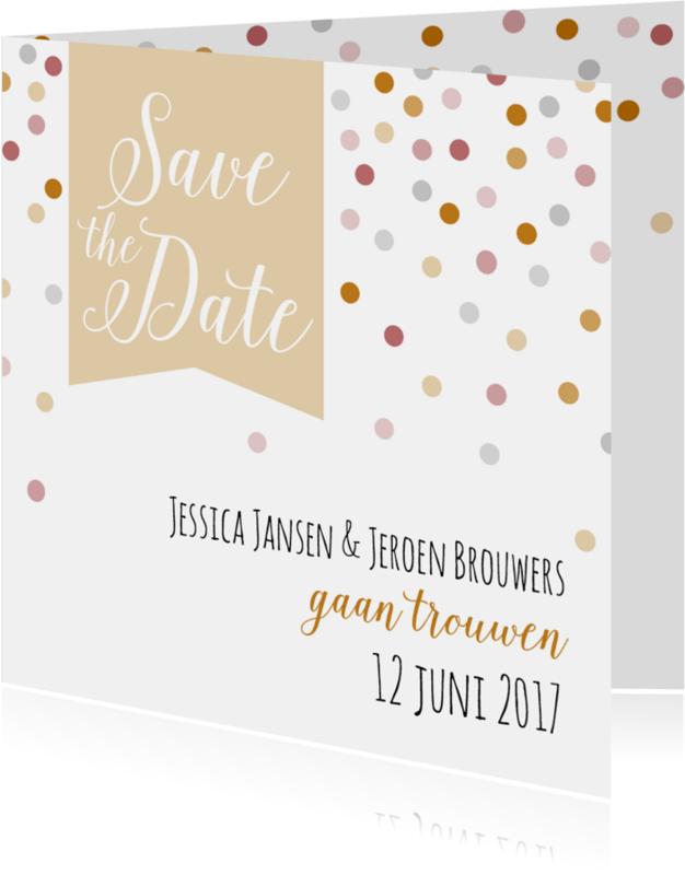 Trouwkaarten - Save the date - Dots - HB