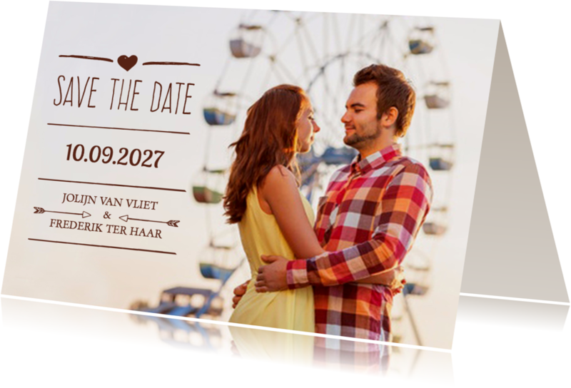Trouwkaarten - Save the Date grote foto - DH