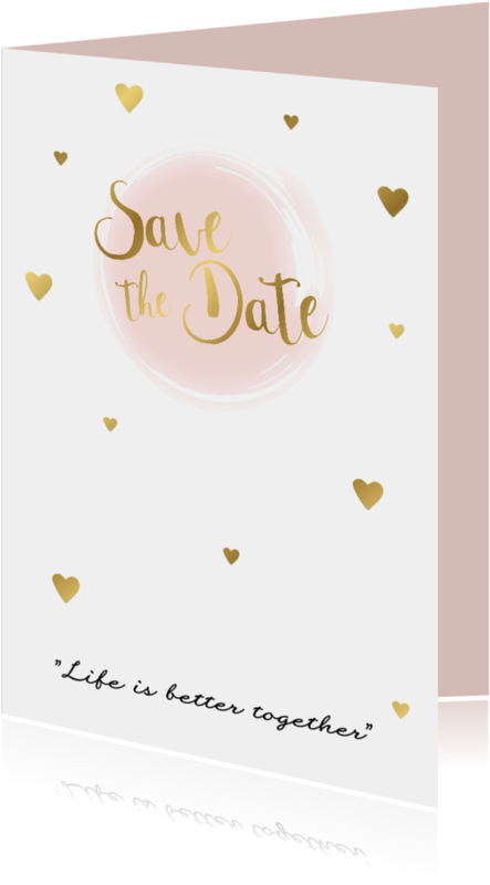 Trouwkaarten - Save the date kaart 3 - WW