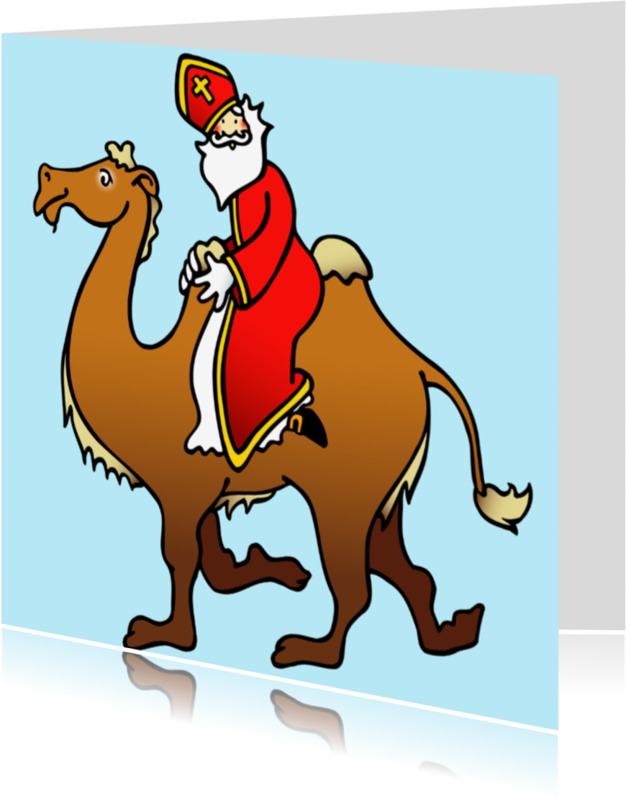 Sinterklaaskaarten - Sint op kameel