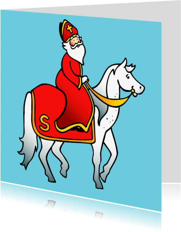 Sinterklaaskaarten - Sint op paard
