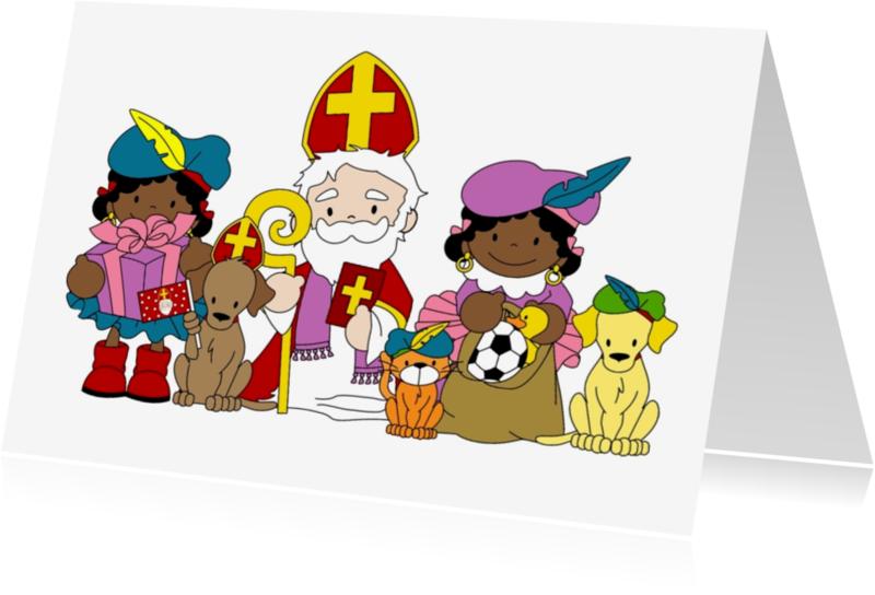Sinterklaaskaarten - Sinterklaas kaart 1a