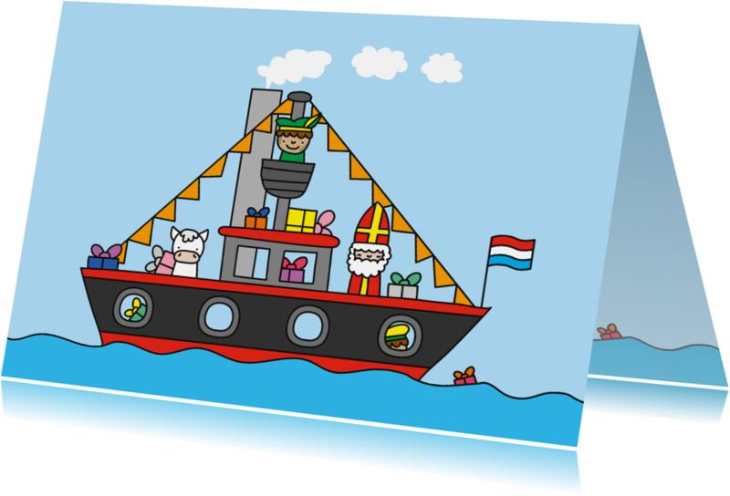 Sinterklaaskaarten - Sinterklaas Pakjesboot