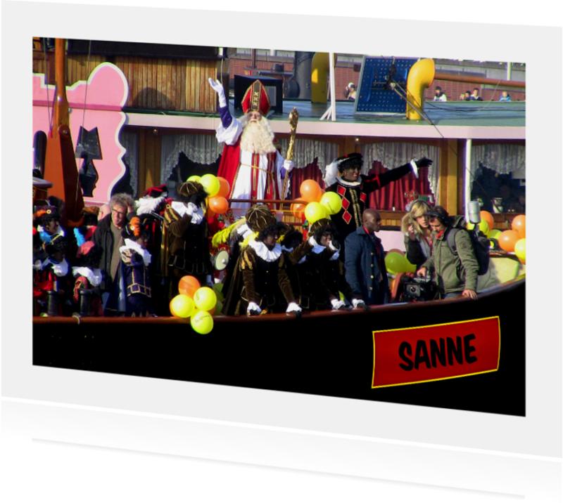 Sinterklaaskaarten - Sinterklaas - stoomboot naam