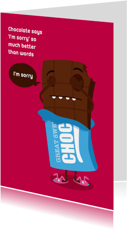 Sorry kaarten - Sorry Funny Food Chocolade