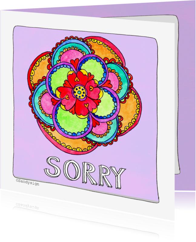 Sorry kaarten - Sorry kaart bloem - SD