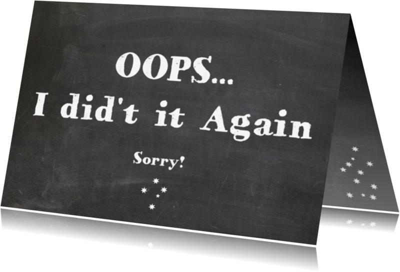 Sorry kaarten - Sorry kaart Oops