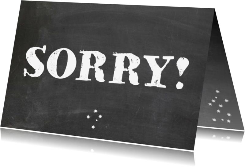 Sorry kaarten - Sorry kaart  sterren
