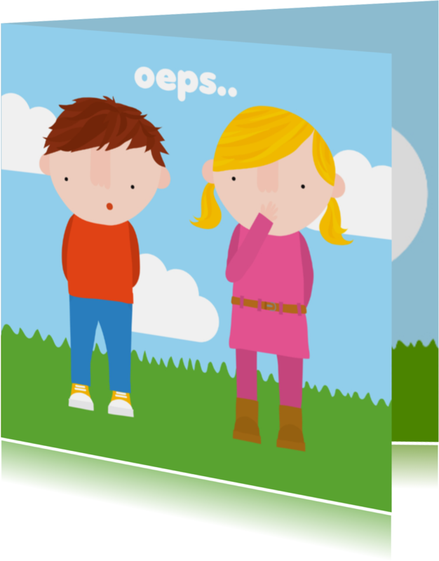 Sorry kaarten - Sorry Kinderen Oeps