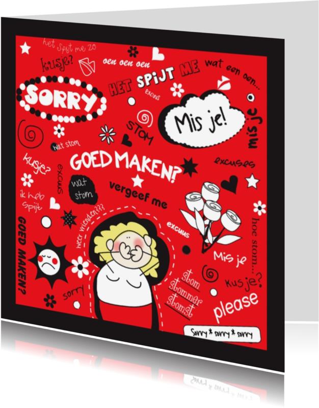 Sorry kaarten - Sorrykaart