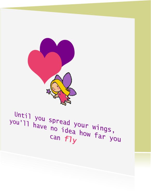 Spreukenkaarten - Spreid je vleugels