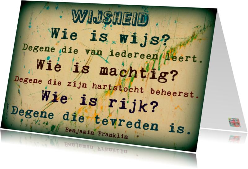 Spreukenkaarten - Spreukenkaart wijsheid IW