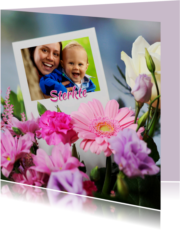 Sterkte kaarten - Sterkte bloemen met kaart
