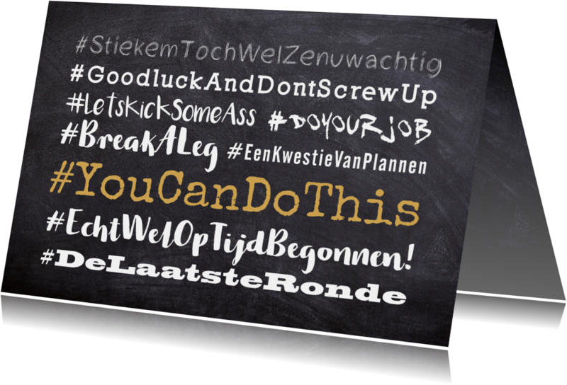 Succes kaarten - Succes hashtag tekstwolk