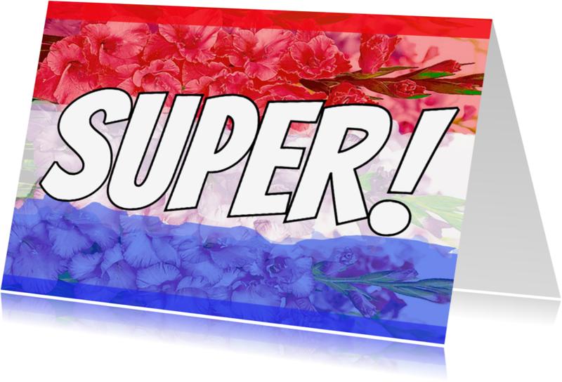 Felicitatiekaarten - Super Gladiolen vlag - AW