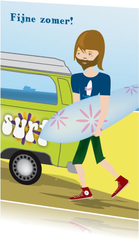 Vakantiekaarten - Surfdude