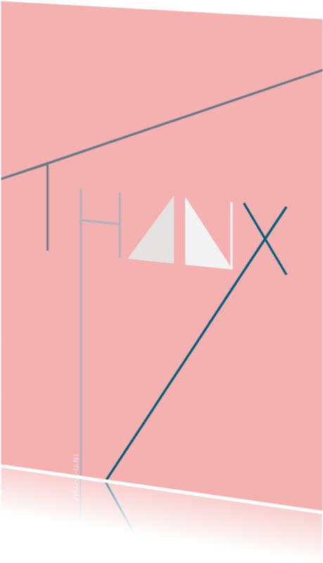 Bedankkaartjes - Thanx pink