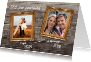 Jubileumkaarten - 12 en een half jaar - dubbele lijst
