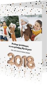 Kerstkaarten - 2018 Ballonnen kerstkaart