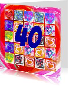 Verjaardagskaarten - 25 harten cijfer - AW