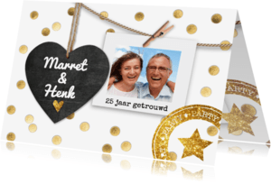 Jubileumkaarten - 25 jaar getrouwd hou