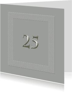 Jubileumkaarten - 25 jaar in zilver