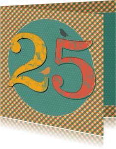 Verjaardagskaarten - 25 jaar retro