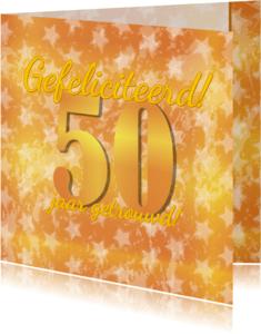 Felicitatiekaarten - 50 jaar getrouwd! Goud 50
