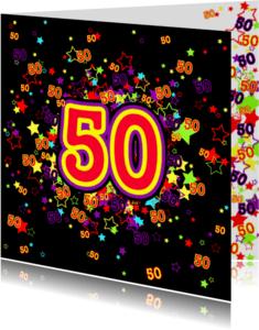 Verjaardagskaarten - 50 Vrolijke kaart met sterren