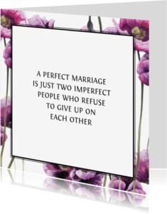 Spreukenkaarten - Aanmoediging Met Paarse Bloemen