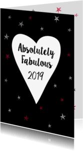 Nieuwjaarskaarten - Absolutely Fabulous 2018 stars