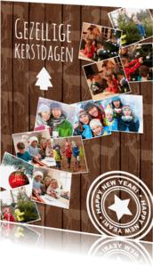 Kerstkaarten - Achtergrond met rendierhout-isf