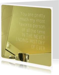 Spreukenkaarten - Allerliefste liefde quote kaart