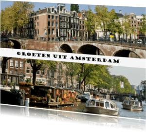 Ansichtkaarten - Amsterdam in 2 fotos