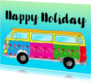 Ansichtkaarten - Ansichtkaart happy holiday