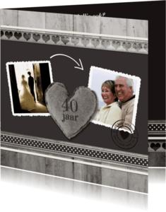 Jubileumkaarten - Antraciet Jubileum 40 jaar - BK