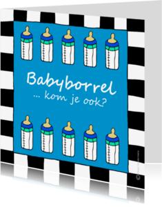 Uitnodigingen - Babyborrel uitnodiging jongen