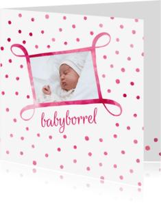 Uitnodigingen - Babyborrel uitnodiging met foto