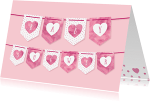Uitnodigingen - Babyshower uitnodiging meisje