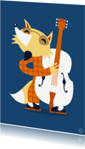 Ansichtkaarten - Bass player fox
